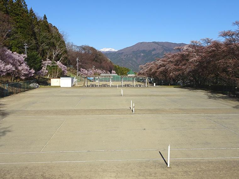 大自然の中でテニス! 与田切公園テニスコート