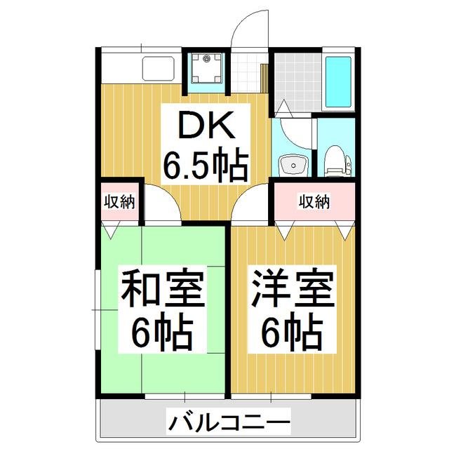 【賃貸】シティハイムDAY-Ⅲ(2DK)